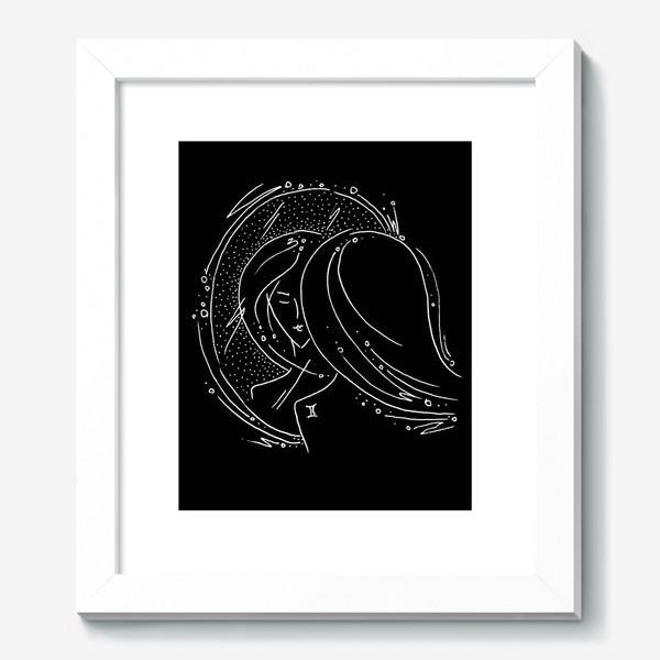 Картина «Близнецы зодиак черный»