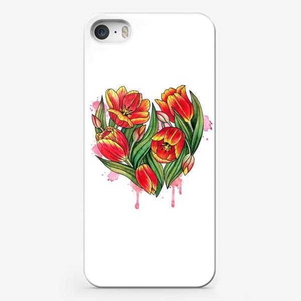 Чехол iPhone «Сердце из тюльпанов»