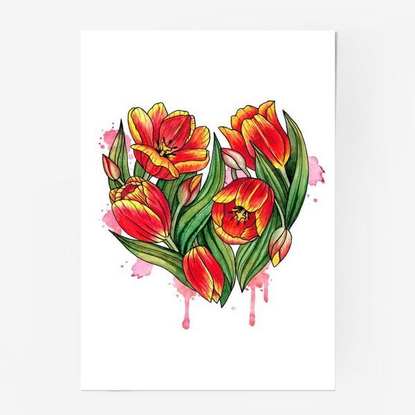 Постер «Сердце из тюльпанов»