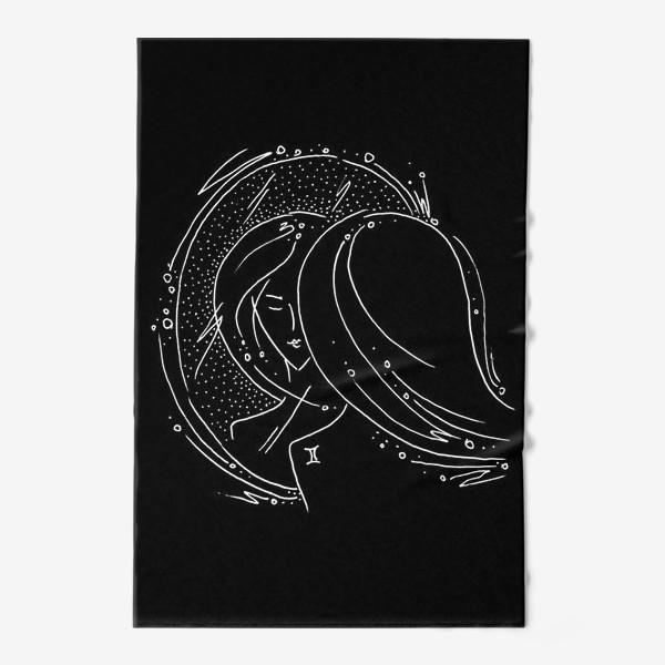 Полотенце «Близнецы зодиак черный»