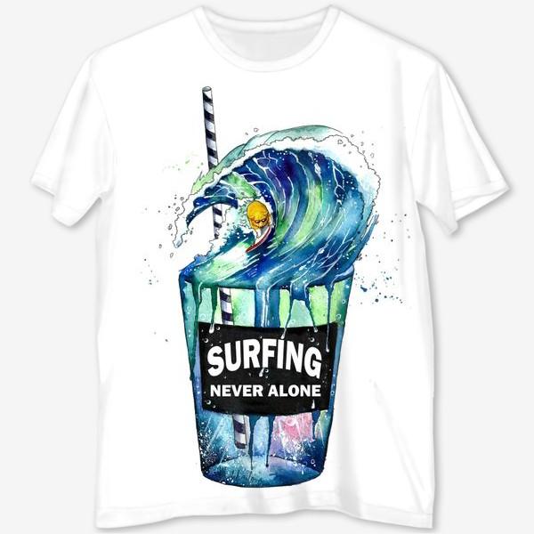 Футболка с полной запечаткой «surf»