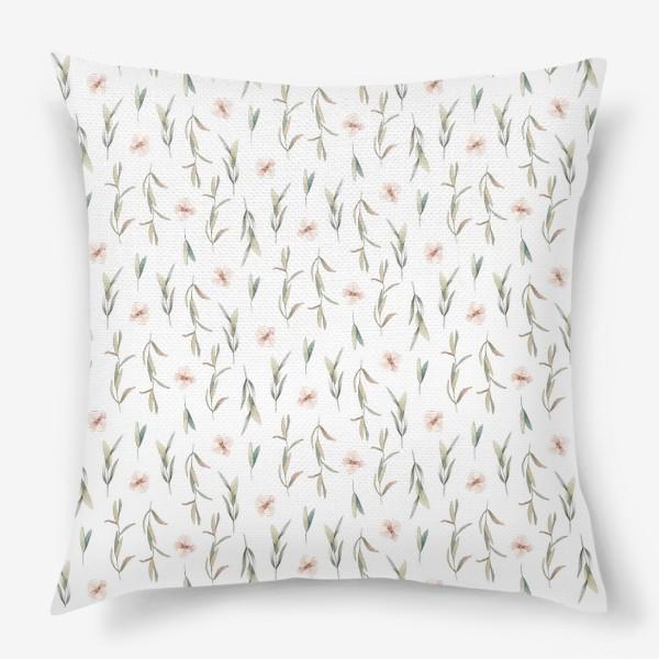 Подушка «Цветочный паттерн »
