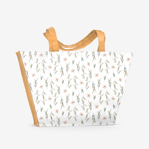 Пляжная сумка «Цветочный паттерн »