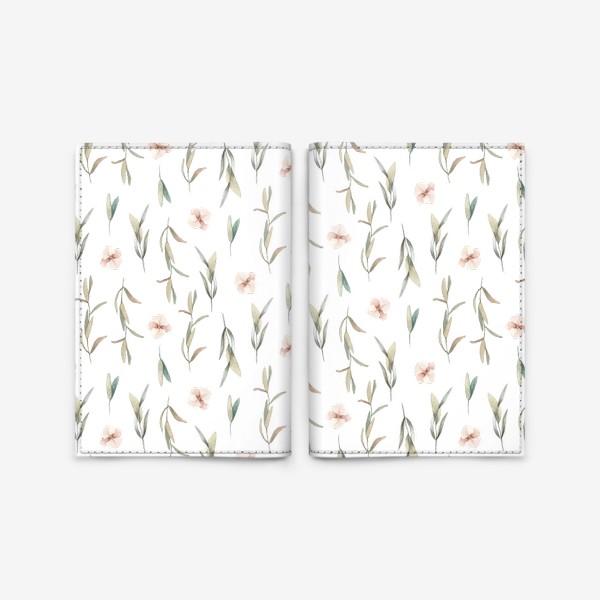 Обложка для паспорта «Цветочный паттерн »
