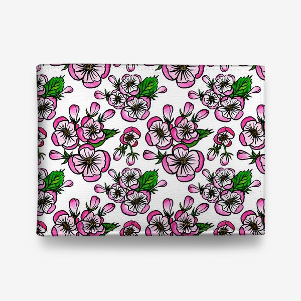Кошелек «Паттерн розовые цветы яблони»