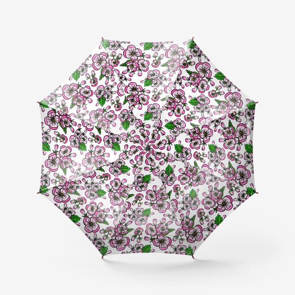 Зонт «Паттерн розовые цветы яблони»