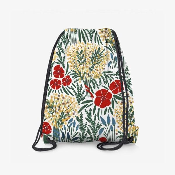 Рюкзак «Мимозы и Маки»
