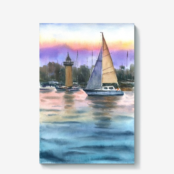 Холст «Корабль в море»