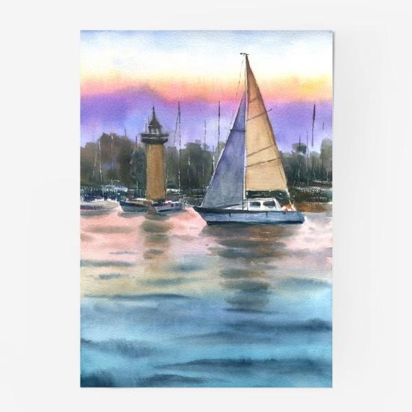 Постер «Корабль в море»