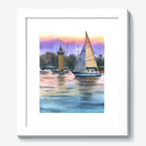 Картина «Корабль в море»