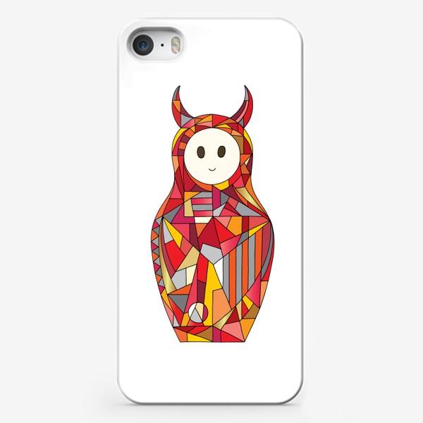 Чехол iPhone «Матрешка аниме чертик»
