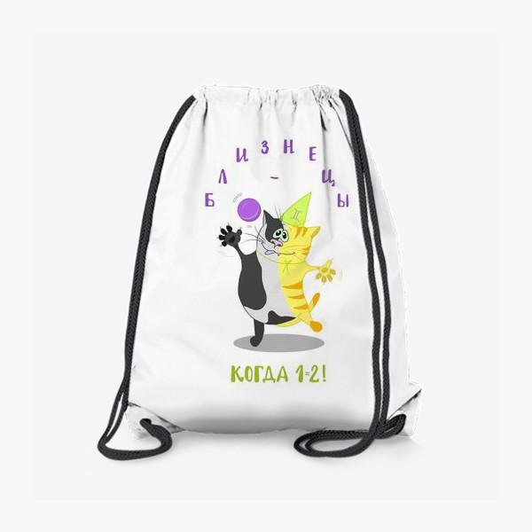 Рюкзак «Кот Близнецы»
