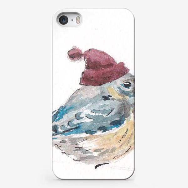 Чехол iPhone «Птица в шапке»