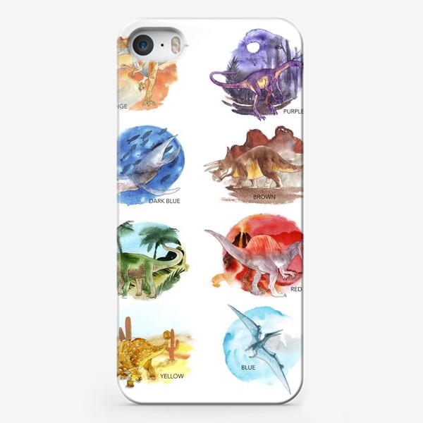 Чехол iPhone «Dino-colour»