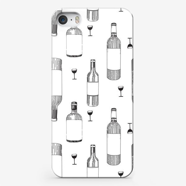 Чехол iPhone «Вино, бокалы, бутылки вина, алкоголь.»