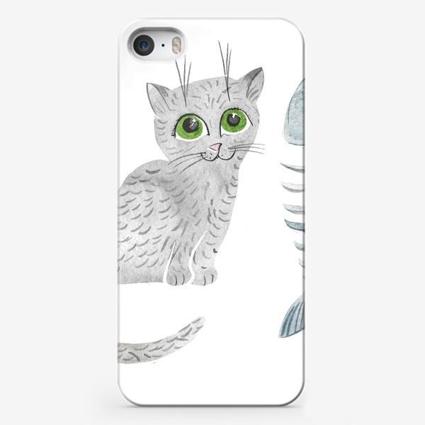 Чехол iPhone «Милый серый котенок»