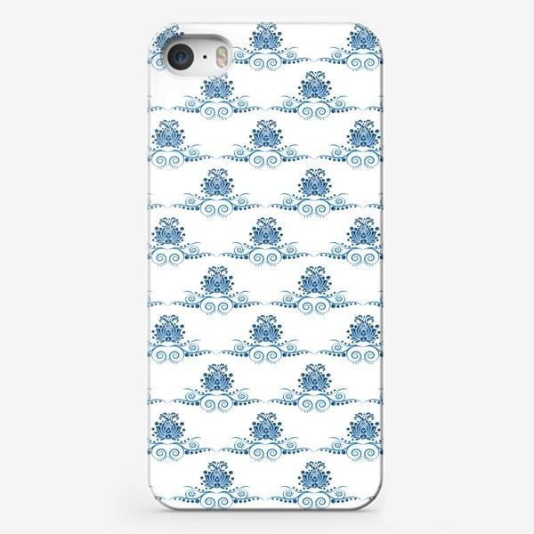 Чехол iPhone «Гжель паттерн»