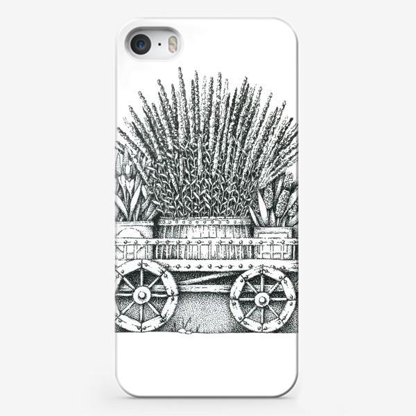 Чехол iPhone «Телега с цветами»