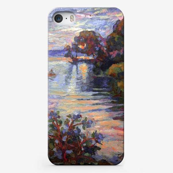 Чехол iPhone «Evening on the lake | Sunset»