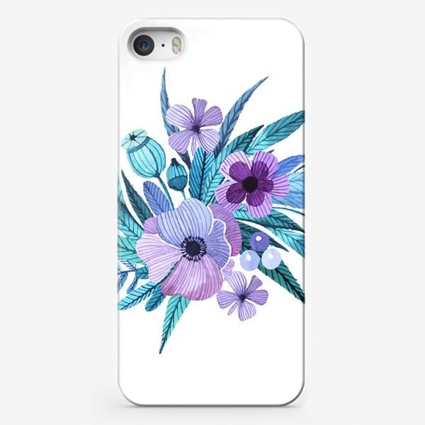 Чехол iPhone «Лиловые маки»