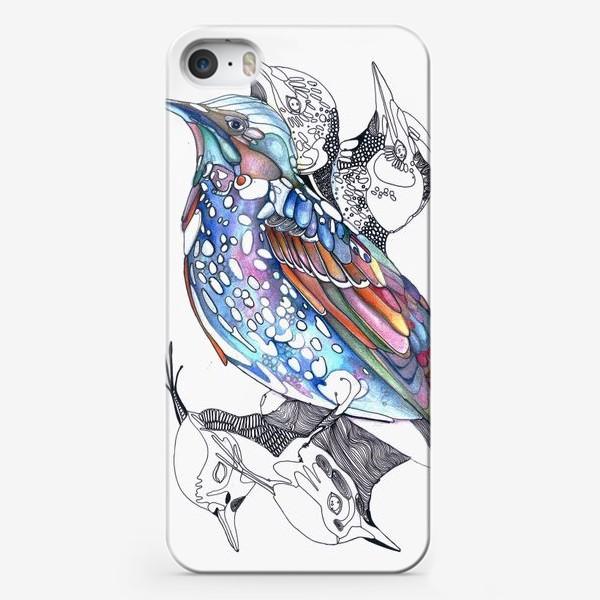 Чехол iPhone «цветной скворец»