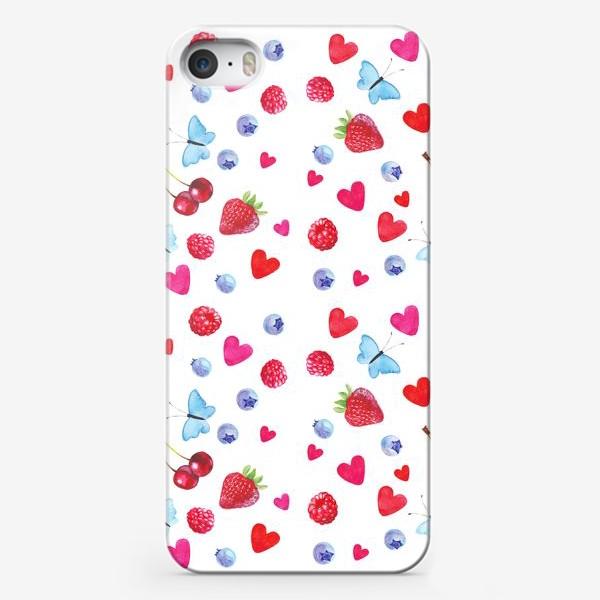 Чехол iPhone «Сердечкиягодки»