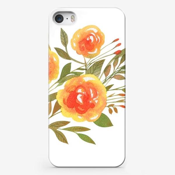 Чехол iPhone «Акварельная ветвь»
