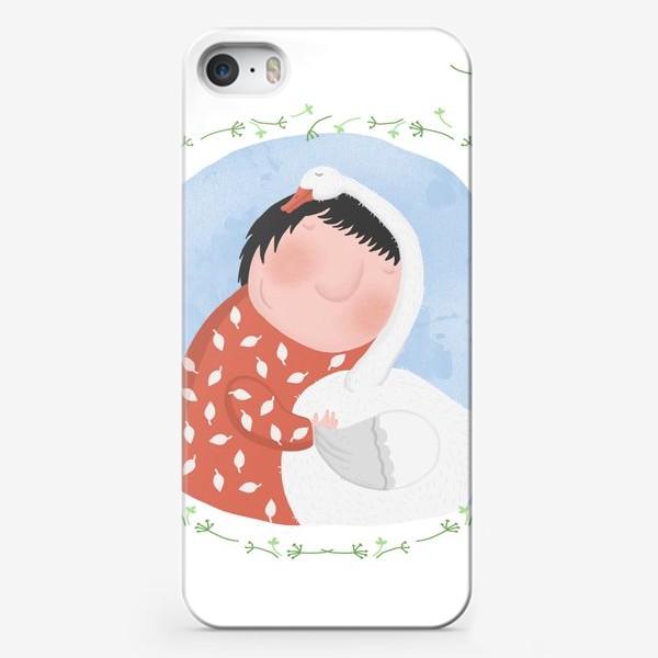 Чехол iPhone «девочка и гусь»