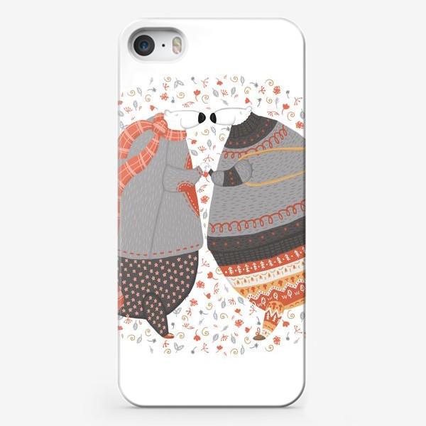 Чехол iPhone «Мишки в любви»