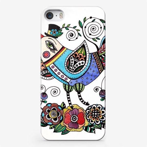 Чехол iPhone «Птица в голубом»