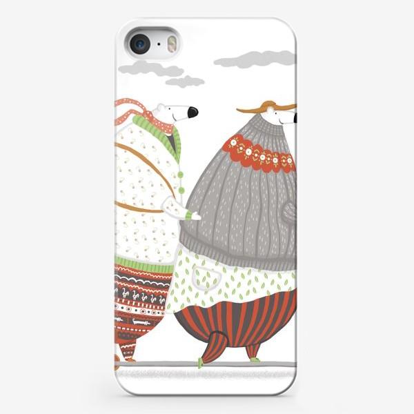 Чехол iPhone «самокат и мишки»