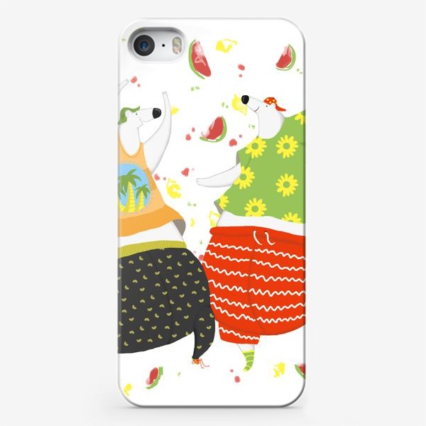 Чехол iPhone «мишки танцуют»
