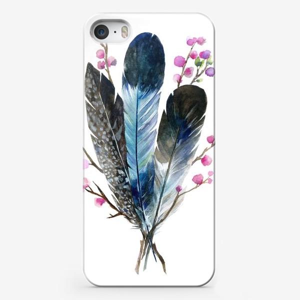 Чехол iPhone «Перья и сакура»