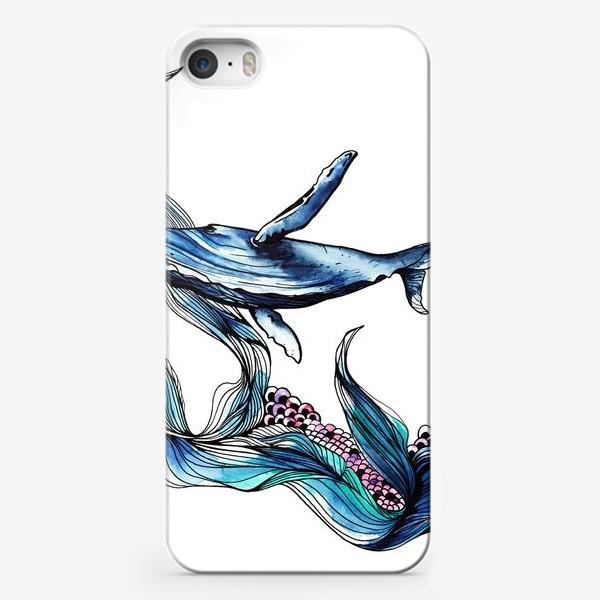Чехол iPhone «Голубой кит»