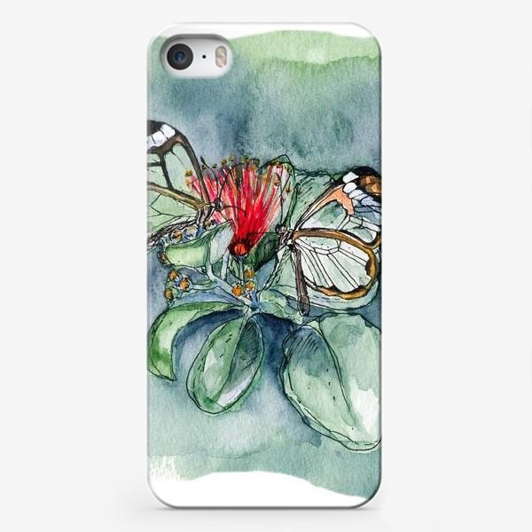 Чехол iPhone «Стеклянные бабочки»
