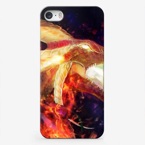 Чехол iPhone «Лина - огненная девушка»