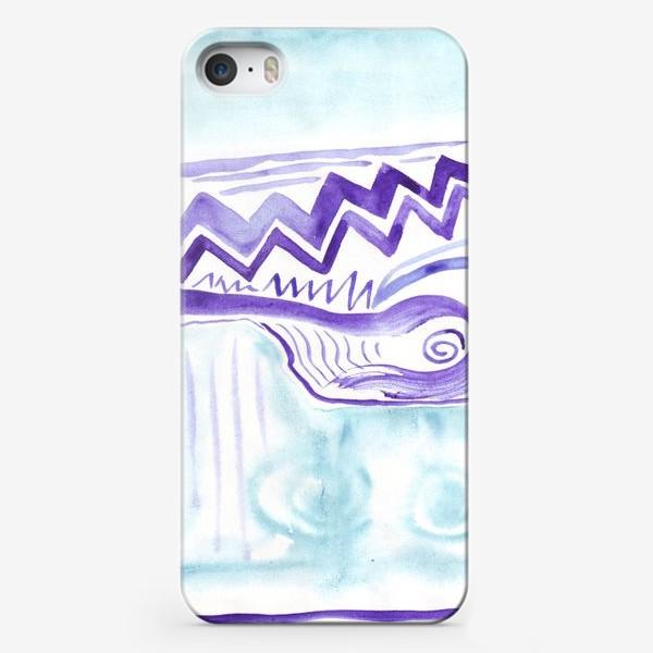Чехол iPhone «Акварельный зигзаг»
