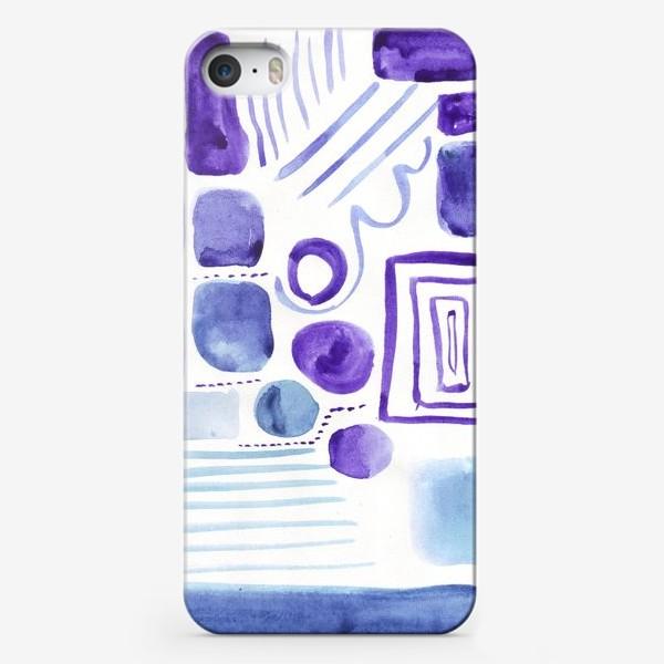 Чехол iPhone «Акварельные прямоугольники»