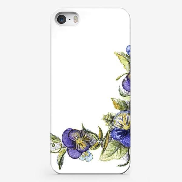 Чехол iPhone «Цветы анютины глазки»