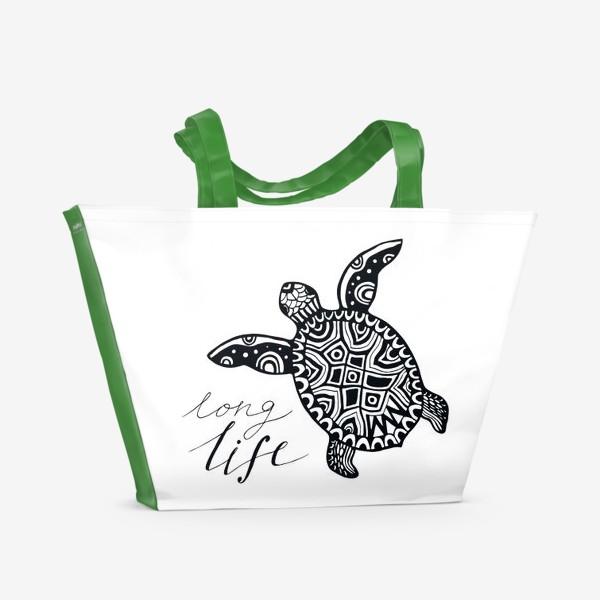 Пляжная сумка «Черепаха. Long life»