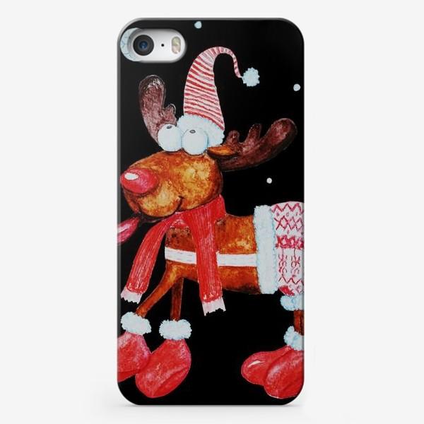 Чехол iPhone «Веселый рождественский олень»