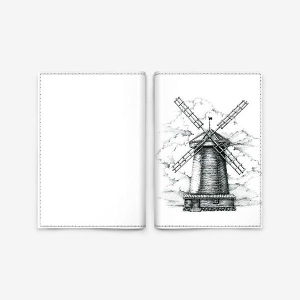 Обложка для паспорта «Мельница»
