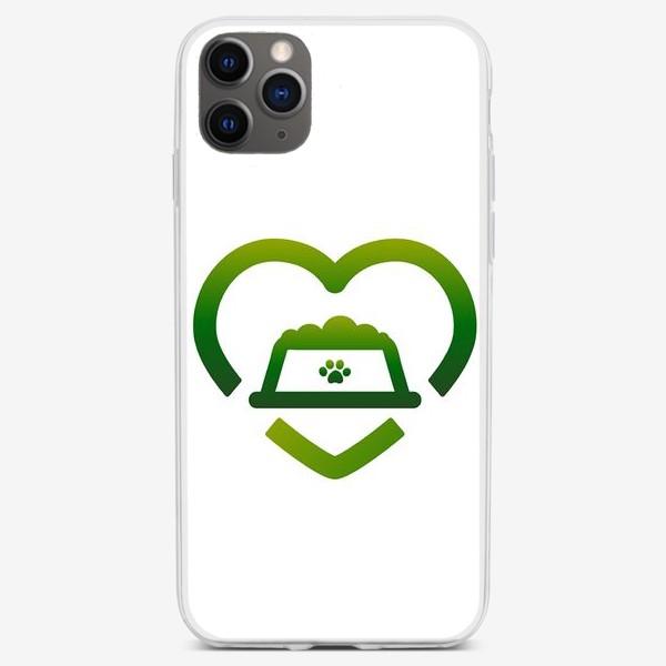 Чехол iPhone «Логотип_ #ОставайтесьСытыми»