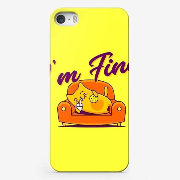 Чехол iPhone «Котик»