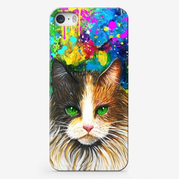 Чехол iPhone «красочный кот »