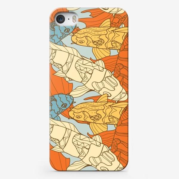 Чехол iPhone «Декоративная фантазия на тему карпов кои»