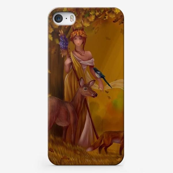Чехол iPhone «Девушка нимфа - осень»