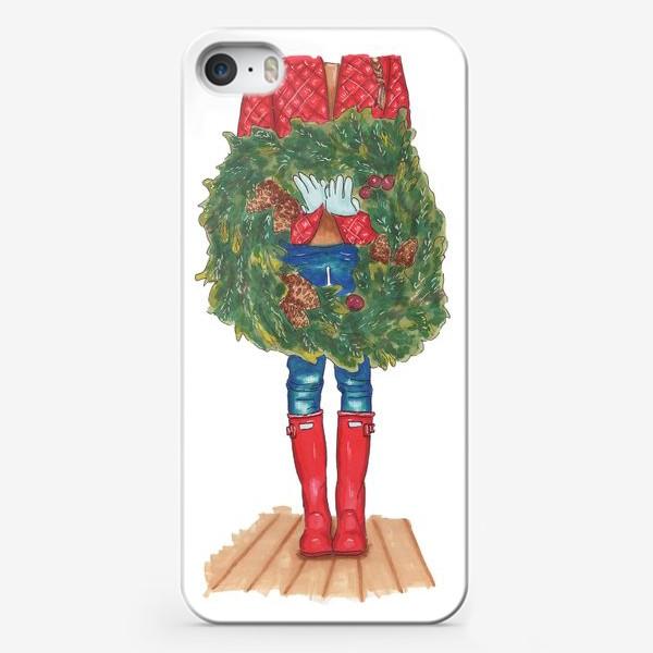 Чехол iPhone «Новогодний венок»