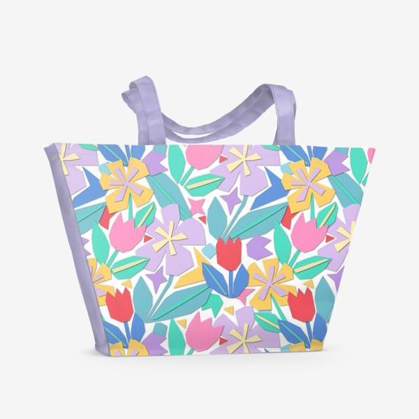 Пляжная сумка «Весна. Садовые цветы. Весенний цветок. Тюльпан.»