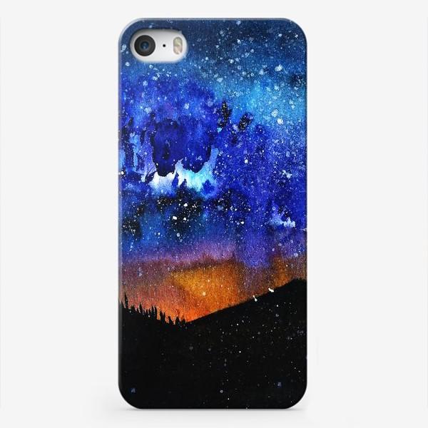 Чехол iPhone «ночь в горах»